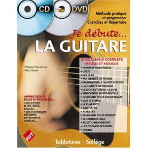 Je débute... La Guitare (+ CD morceaux avec play-back + DVD)