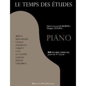 Le temps des études piano volume 1