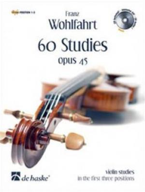 Méthode WOHLFAHRT FRANZ pour violon - 60 ETUDES OP.45 + CD
