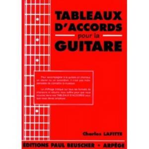 Tableaux d'accords pour la guitare